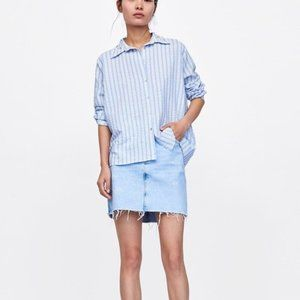 Zara creased effect shirt with pearls
